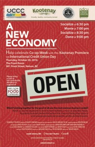 Co-op Week 2016 Approaching: A NEW ECONOMY Film Screening